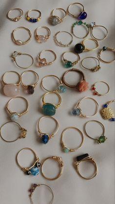 Wire Jewelry Rings, Handmade Wire Jewelry, Funky Jewelry, Hand Jewelry, Hippie Jewelry, Cute Jewelry, Crystal Jewelry, Beaded Jewelry, Jewelry Accessories