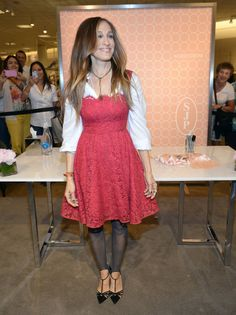 Sarah Jessica Parker in Dolce & Gabbana at the SJP Collection launch at the Aventura Mall Nordstrom.