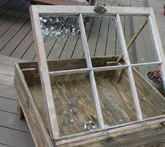 Salvaged window table