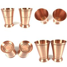 Set of 2 Woodford Reserve Bourbon Whiskey Copper Mint Julep Cocktail Derby Cups Woodford Reserve Bourbon, Bourbon Whiskey, Gin & Tonic Cocktails, Vintage Bar, Bar Set, Copper, Mint, Bourbon