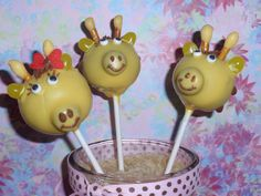 Giraffe Cake Pops | Flickr - Photo Sharing!