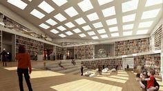 Media Library at Dalarna University, Falun, Sweden, 2010