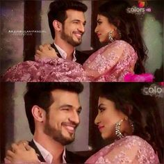 Cos he can add fun to any situation.! *The Ultimate Swag* n those dimples #naagin #rivanya #throw @arjunbijlani @imouniroy
