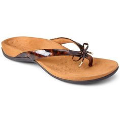 293e70353d67 Vionic Orthaheel Bella II Toe Post Women Orthotic Flip Flop Sandal Tortoise  Flip Flop Sandals