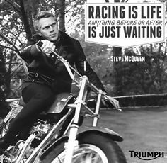 Got to love the MAN !!!! Racing is life!
