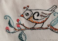 Embroidered Bird by sbergeron00, via Flickr