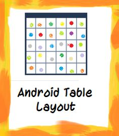 Layout denotes the architecture of the application, where and how the controls should be organized in the UI. Learn 'Table Layout' - One of the Layouts type.