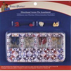 Fons & Porter 2  Directional Arrow Pin Assortment-180/Pkg