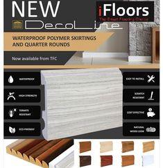 TFC Decoline Polymer waterproof Skirtings & Floor Profiles