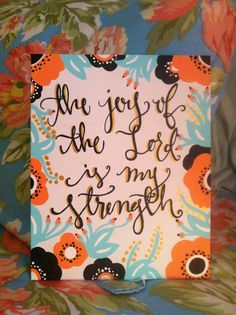 Another style of custom paintings available! Color, words and size are customizable.