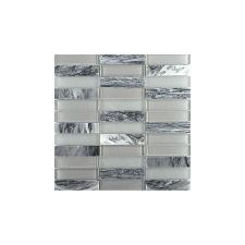 Illumina 12 x 12 Glass Stone Blend Tile in Luster Mosaic  WF