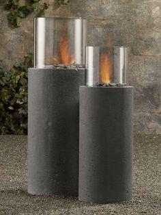 diy cement form column | Concrete furniture on a diet: Cool looks, lighter weight - latimes.com