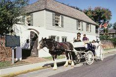 The Gonzalez-Alvarez House is the oldest surviving Spanish colonial house in Florida.  St. Augustine, FL