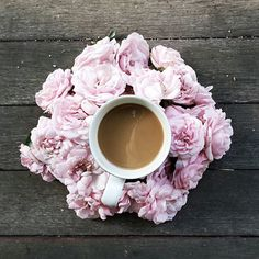 Rise and Shine Floral and Coffee