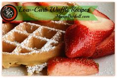 Think you cannot have your beloved waffles when eating low carb? THINK AGAIN! Here's over a 1/2 dozen recipes you are sure to love plus a sugar-free syrup too! http://margeburkell.com/low-carb-breakfast-waffles/