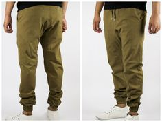 Camel Twill Jogger Pants drop crotch pants Made in USA Highest quality slim fit #MadeinUSA #Chinojoggerpantstwill