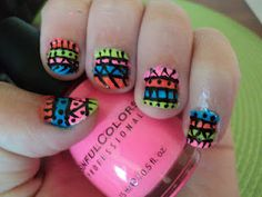 new nail design-aztec