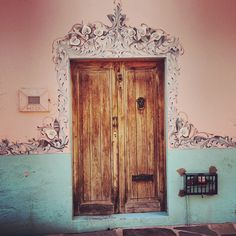 Painted door in San Miguel, Mexico. photo by Anahata Katkin