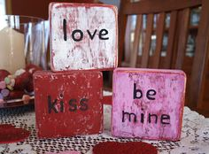 Valentine's Day DIY. - These would be easy to make with left over wood scraps!