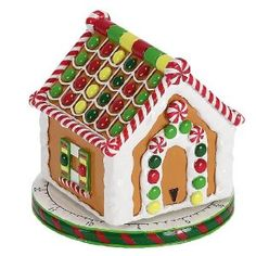 Boston Warehouse Sugar and Spice Gingerbread House Kitchen Timer Christmas Cookie Jars, Christmas Kitchen, Christmas Diy, Christmas Decorations, Cute Kitchen, Kitchen Dining, Awesome Kitchen, Egg Timer, Kitchen Timers