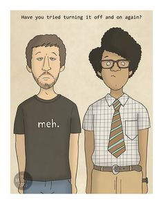 Roy and Moss - IT Crowd - Illustration Print by CarlBatterbee on Etsy