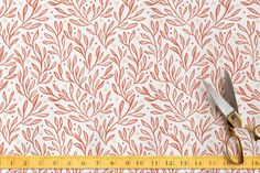 Sweet Leaves and Berries Fabric by Erin McManness | Minted