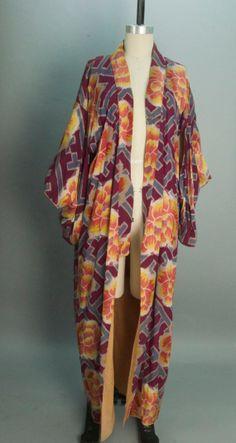 Vintage kimono Japanese robe bohemian 1920s style by melsvanity, $118.00