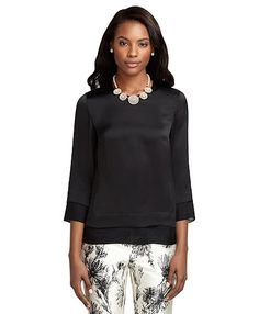 Double Layer Silk Blouse - Brooks Brothers