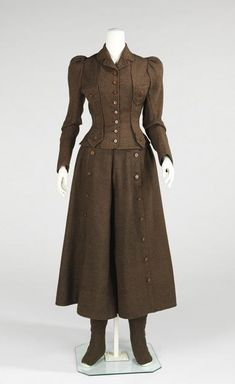 Victorian cycling suit, (c.1896-1898)