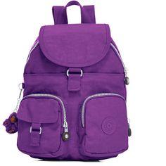 Kipling Lovebug Small Backpack (€43) ❤ liked on Polyvore featuring bags, backpacks, backpack, tile purple, kipling, rucksack bags, purple tote bags, handbag tote and tote handbags