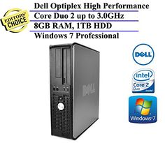 Dell Optiplex 780 SFF Desktop Business Computer PC (Intel Dual-Core Processor up to 3.0GHz, 8GB DDR3 Memory, 1TB HDD, DVDRW, Windows…