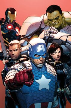 """brianmichaelbendis: """" """" Avengers #1 (variant cover) by Steve McNiven """" """""""