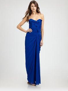Badgley Mischka - Silk Gown - Saks.com
