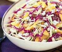 Mardi Gras Slaw    The Mardi Gras colors are purple, green and gold. This salad celebrates the season and doesn't wilt on a buffet.