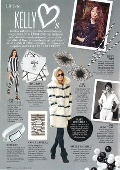 Kelly Wearstler InStyle December 2013 Column #kellywearstler #instyle #kellyloves