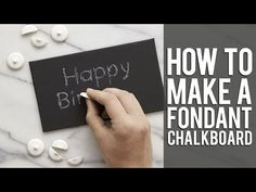 How to use Candy Chalk for your Edible Chalkboard Cake - YouTube