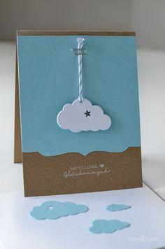 Handmade: Eine süße Wolkenkarte zur Geburt – Love & Lilies // Karte zur Geburt… – Bébés et soins de bébé Diy Birthday, Birthday Cards, Love Lily, Karten Diy, New Baby Cards, Baby Shower Cards, Kids Cards, Cute Cards, Greeting Cards Handmade