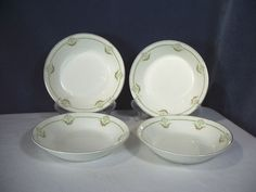 Johnson Brothers China Bowls Set of 4 Rose Garland White Pink Flowers #JohnsonBrothers