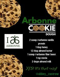Arbonne Cookie Dough recipe. #arbonne