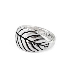 Leaf Ring - Pennyroyal Studio #leaf #ring #leafring #nature #naturejewelry #silver