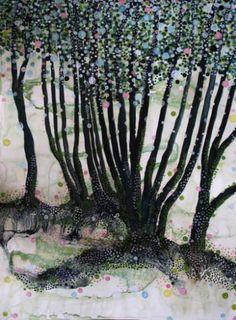 """Saatchi Art Artist Yukari Kaihori; Painting, """"In the Woods I"""" #art"""