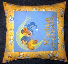 Teddy Bear Wizard embroidery design on pillowcase