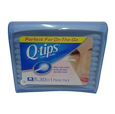 Q-Tips Cotton Swabs Travel Size 30 count (Pack of 8)