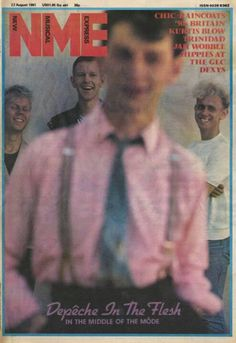 First photo session of Depeche Mode with Anton Corbijn in 1981 for NME
