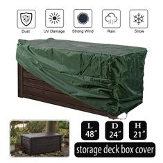Oslimea Patio Deck Box Cover >>> (paid link) Visit the image link more details.