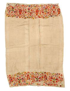 Africa | Wrapper/Shawl from Morocco | Embroidered cotton | 20th century