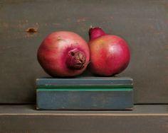 Still life with Pomegranates and Green Box