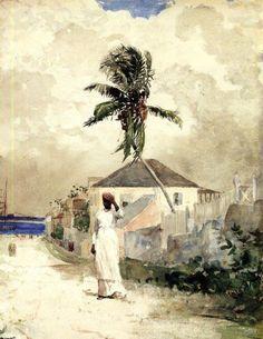 colourthysoul: Winslow Homer - Along the Road, Bahamas (1885)