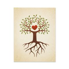 Tree with heart and roots family reunion invite by The Stationery Shop