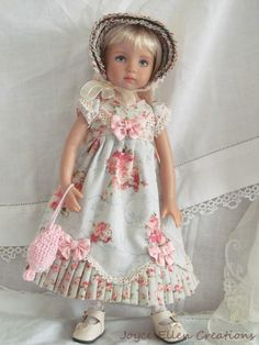 "13"" Effner Little Darling BJD Fashion Blue Pink Regency Ooak Handmade BY JEC 